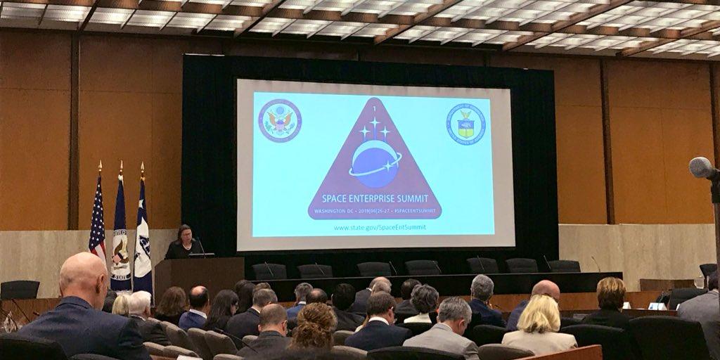 Deputy Secretary of Commerce Karen Dunn Kelley speaking at the State Department