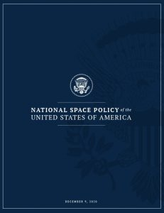 Cover of the National Space Policy of the United States of America - December 9, 2020